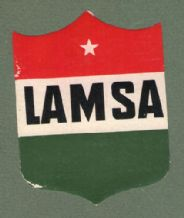 Airline luggage label Lamsa air.  #320